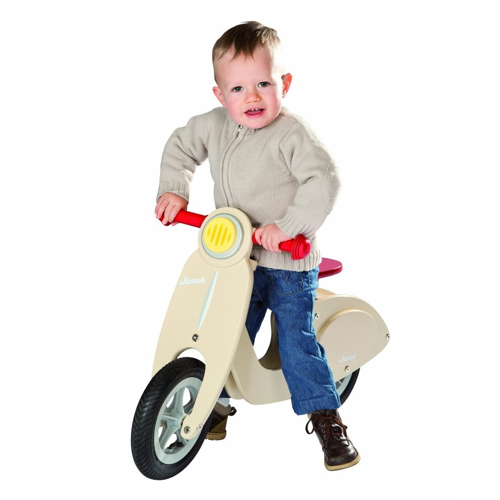 Janod Wooden Scooter Balance Running Bike