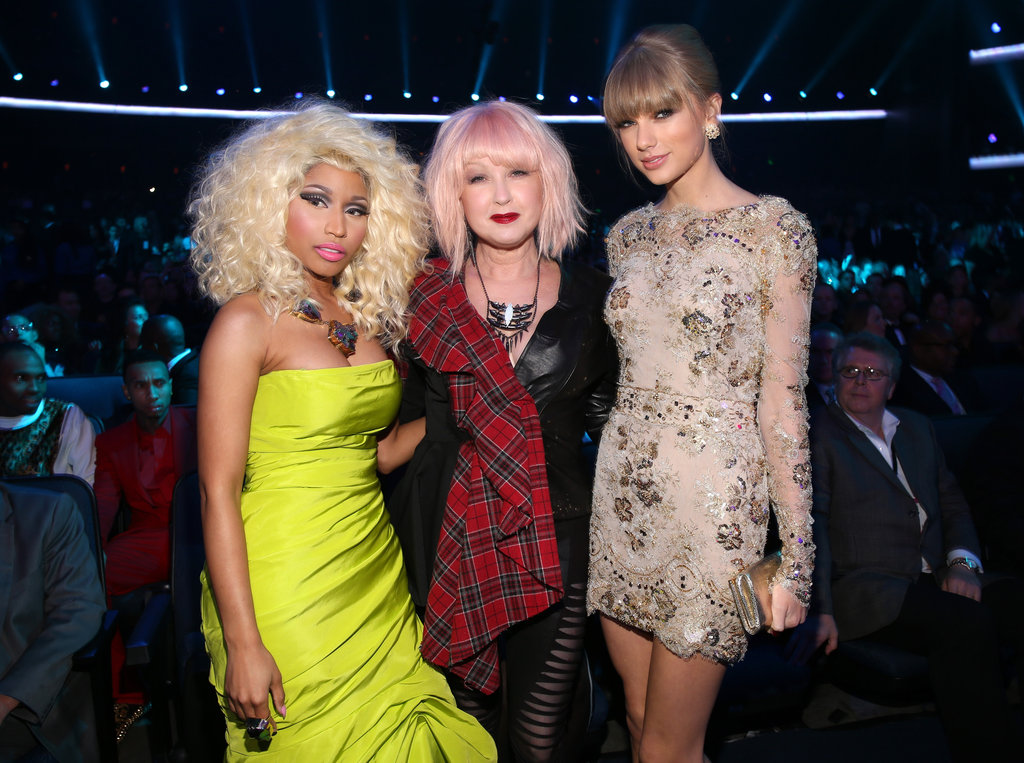 Nicki Minaj, Cyndi Lauper, and Taylor Swift