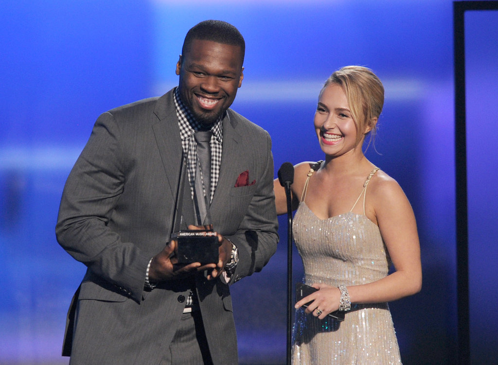 "Curtis ""50 Cent"" Jackson and Hayden Panettiere"