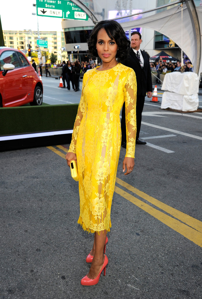 Kerry Washington Gets Glam For the American Music Awards Red Carpet
