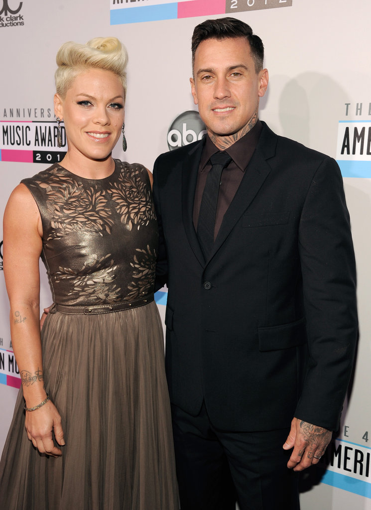 Pink and Carey Hart had their arms around each other at the American Music Awards.