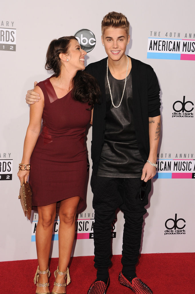 Justin Bieber's mom accompanied him at the American Music Awards.