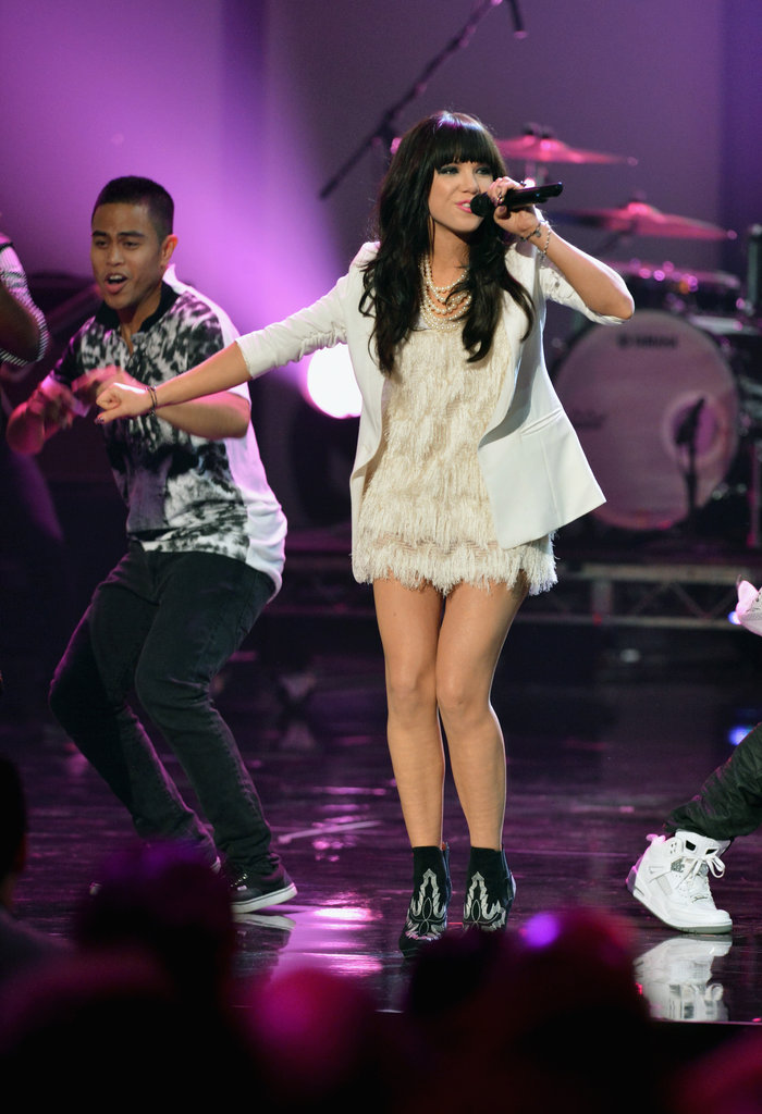 Carly Rae Jepsen performed at the American Music Awards.