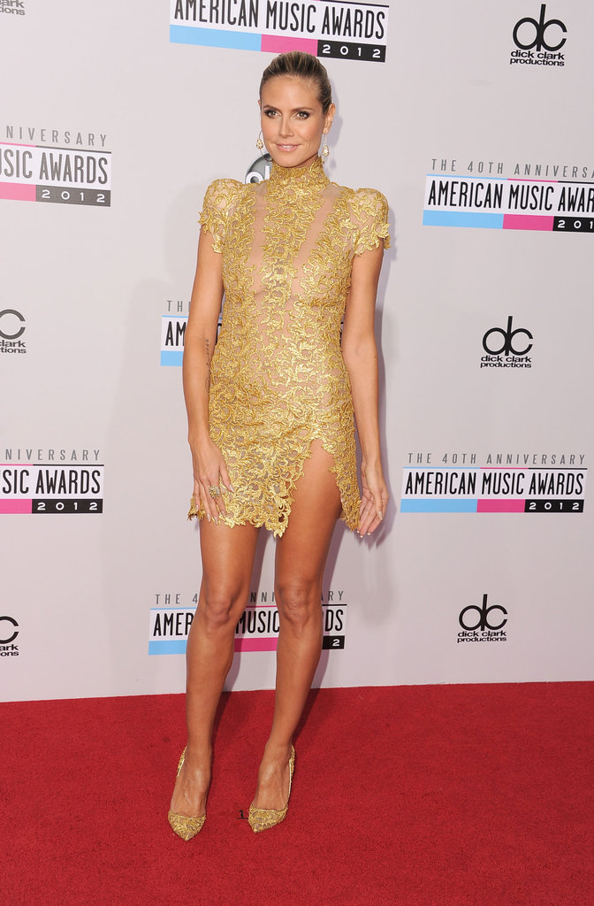 Heidi Klum wore Alexandre Vauthier at the American Music Awards.