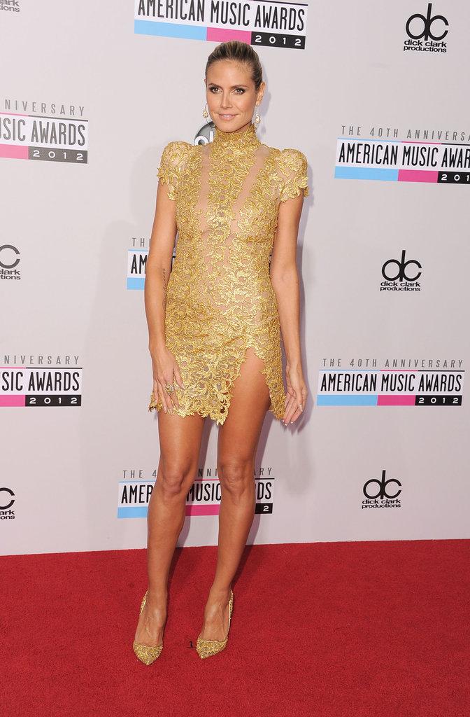 Heidi Klum wore Alexandre Vauthier at the American Music Awards.