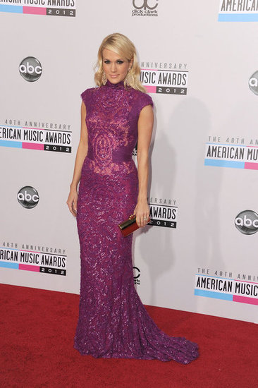 Carrie Underwood on the 2012 American Music Awards red carpet.
