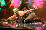 Ke$ha crawled around during her performance.