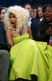 Nicki Minaj reacted to winning at the AMAs.