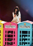 "Carly Rae Jepsen got on top of some phone booths to sing ""Call Me Maybe."""
