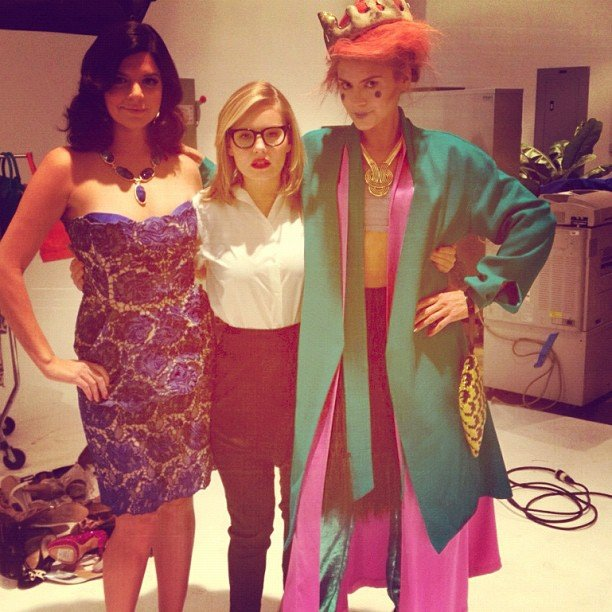 The stars of Happy Endings played dress-up. Source: Instagram user elizamuthafuckincoupe