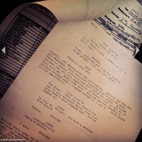Eric Stonestreet shared a page from the Almost Famous script, in which he played a small role. Source: Eric Stonestreet on WhoSay