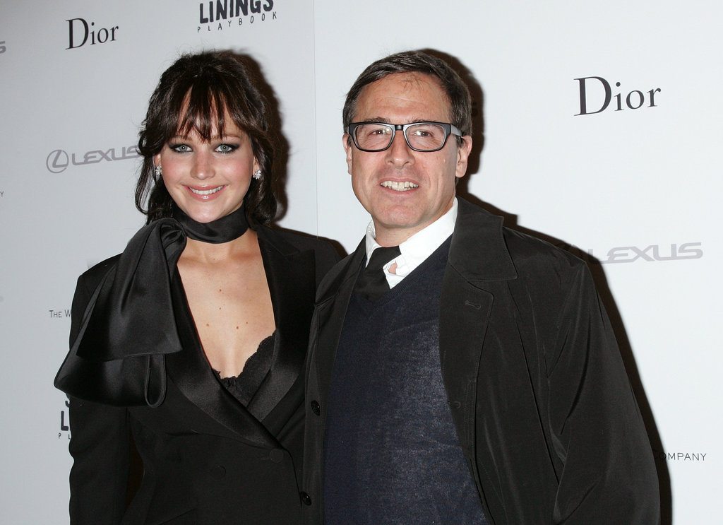 Jennifer Lawrence posed with director David O. Russell at the NYC screening of Silver Linings Playbook.