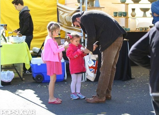Ben Affleck spent time with his daughters, Violet and Seraphina, in LA.
