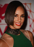 Alicia Keys chose a red lip for the awards.