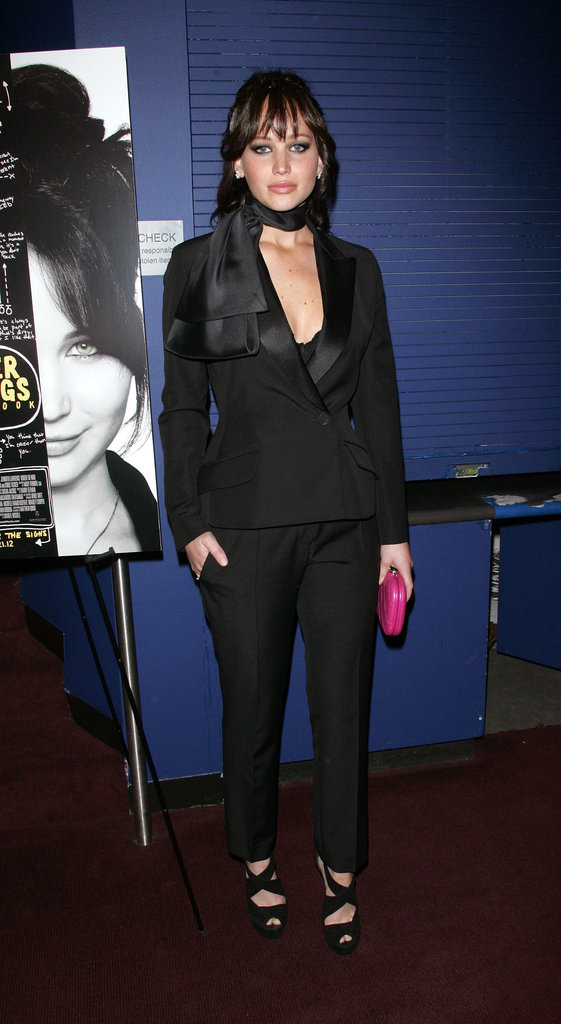 Jennifer Lawrence wore an all-black ensemble to the NYC screening of Silver Linings Playbook.