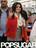 Selena Gomez waved.