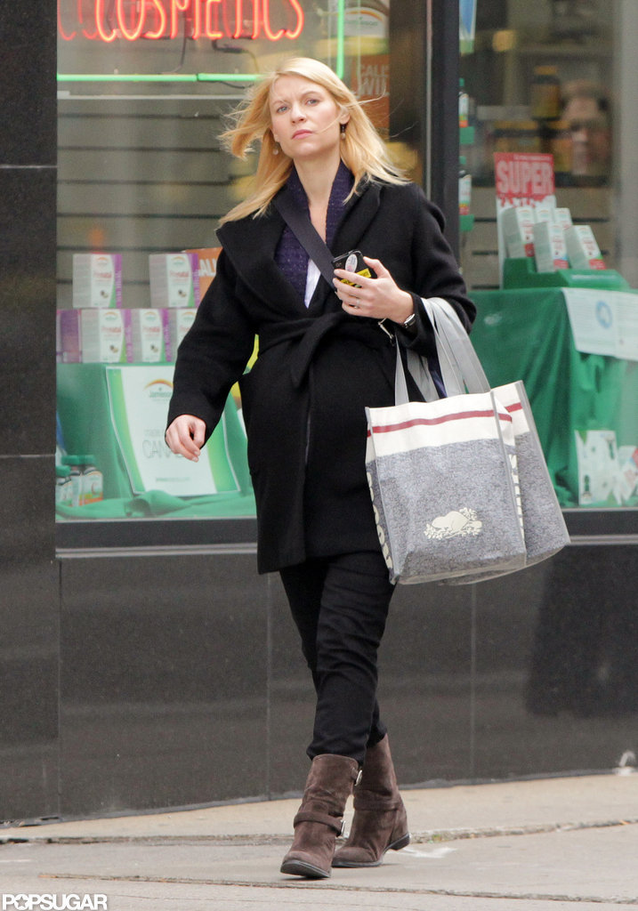 Claire Danes bundled up in a coat as she picked up a few items at Roots in Toronto.