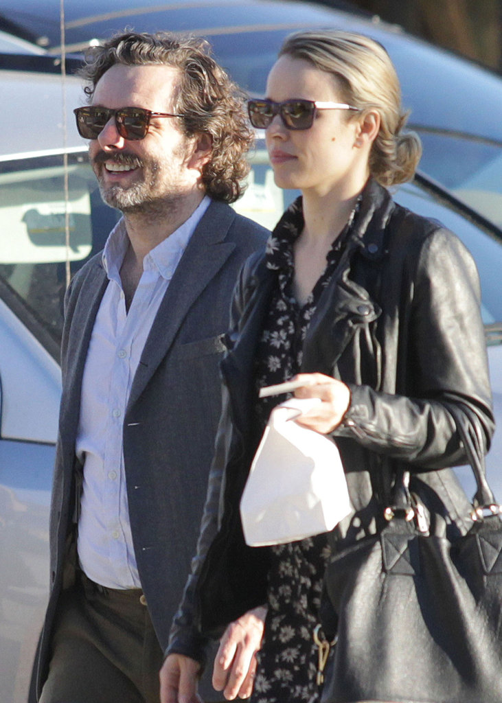 Rachel McAdams and Michael Sheen were all smiles.