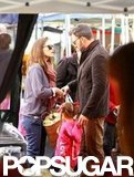 Ben Affleck and Jennifer Garner spent some time with their daughters in LA.