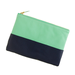 This handy J.Crew leather colorblock pouch ($50) can go double duty as a clutch or stored inside a bigger bag for your smaller essentials.
