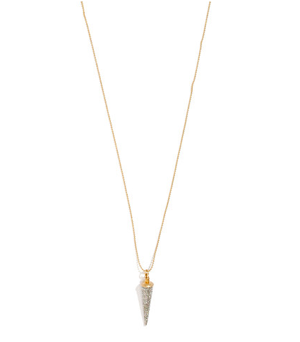 This Madewell sparkle point pendant ($35) will easily become an everyday piece for the fashion girl.