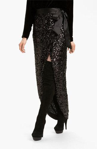 Rachel Zoe Abbey Sequin Maxi Skirt