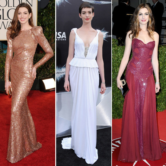 Anne Hathaway Gown: Anne Hathaway Birthday: Best Red Carpet Dresses And