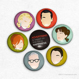Mad Men Magnets ($9 for seven)