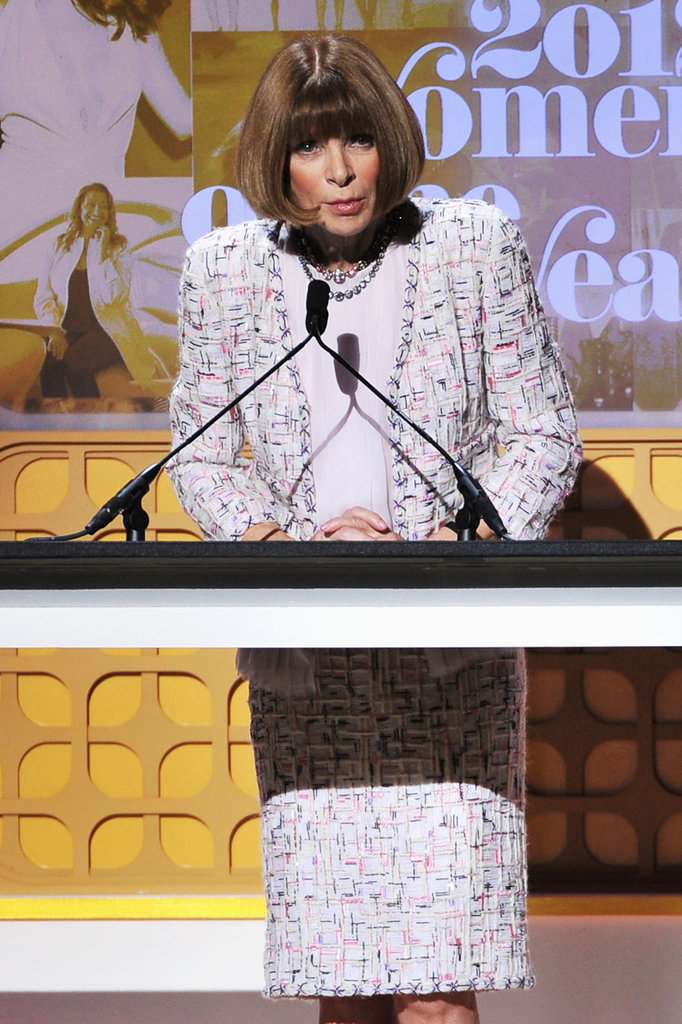 Anna Wintour was on stage at the Glamour Women of the Year Awards in NYC.