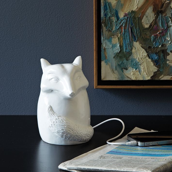 Perfect for playing tunes in the kitchen while you cook or in a home office, this Ceramic Fox Speaker ($49) allows you to get a better sound without the eyesore.