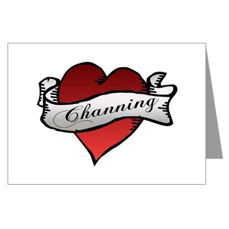 Channing Tattoo Heart Greeting Cards ($20)