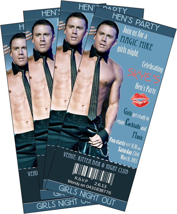 Magic Mike Party Invitations ($9)