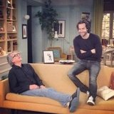 "Whitney's Chris D'Elia shared a pic, commenting, ""Me and my dad on set."" Source: Instagram user chrisdelia"