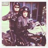 Rainn Wilson and John Krasinski went all Sons of Anarchy for The Office. Source: Instagram user rainnwilson