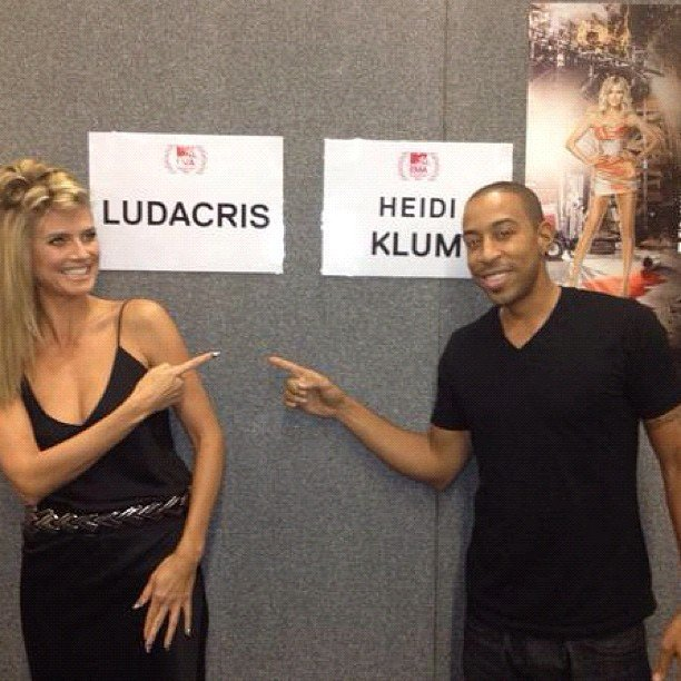Heidi Klum and Ludacris got ready together at the MTV EMAs. Source: Instagram user itsludacris