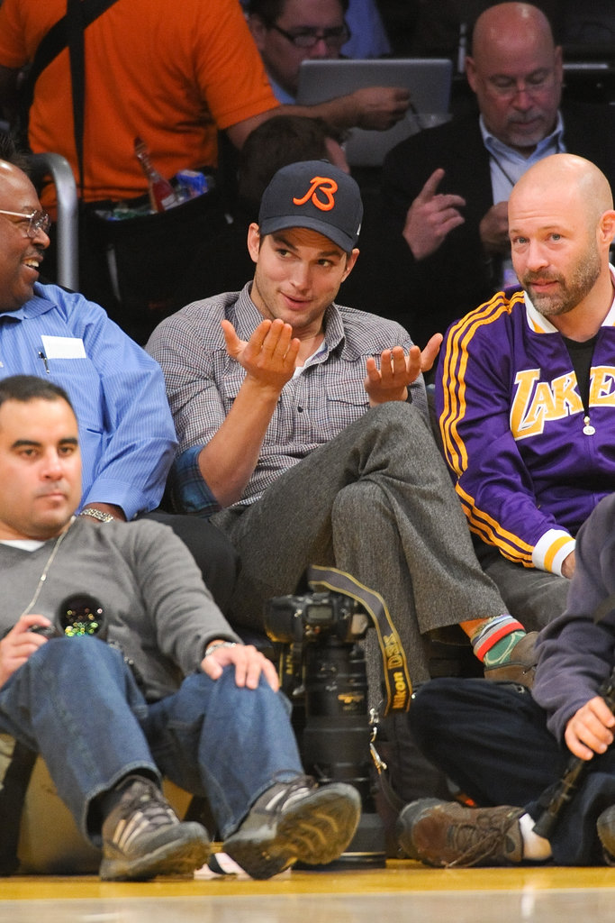 Ashton Kutcher got into the game.