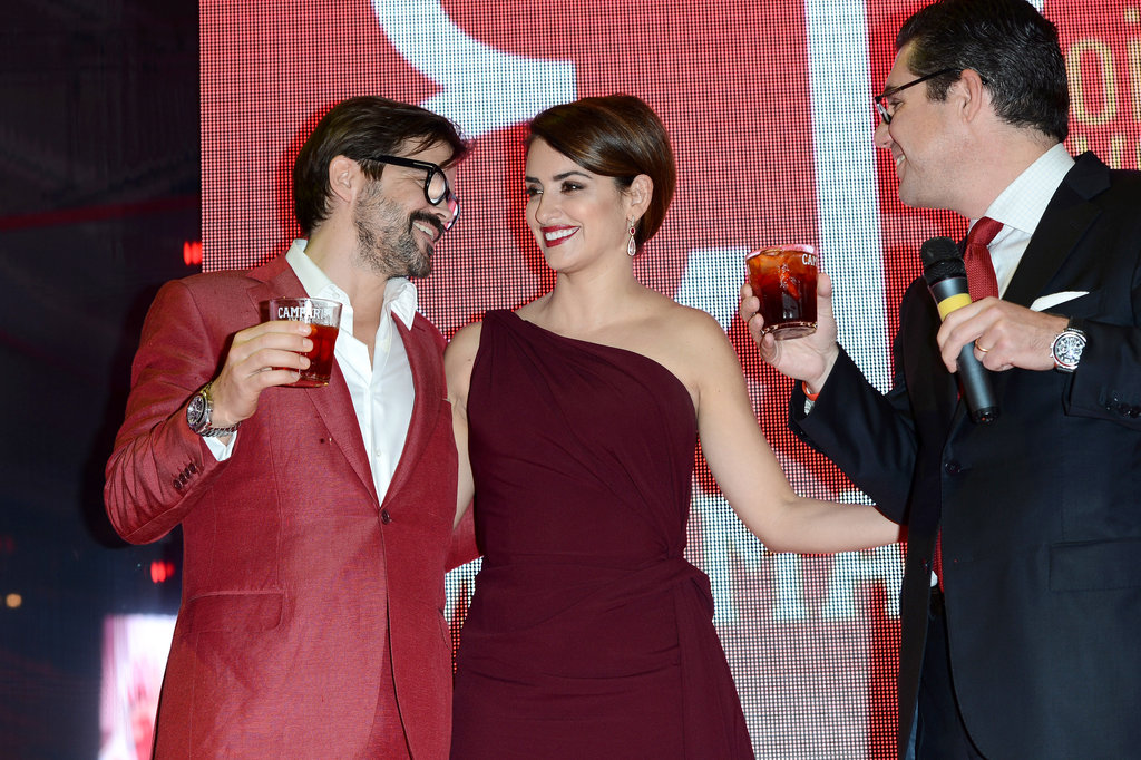 Penelope Cruz celebrated her Campari Calendar in Rome.