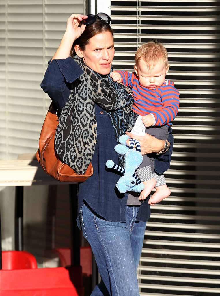 Jennifer Garner stepped out with her son, Samuel, in LA.