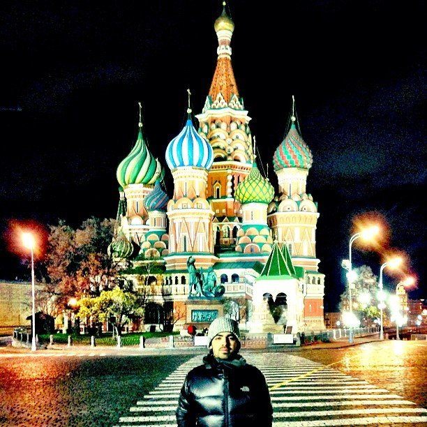 Joe Jonas shared a photo from Russia. Source: Instagram user adamjosephj