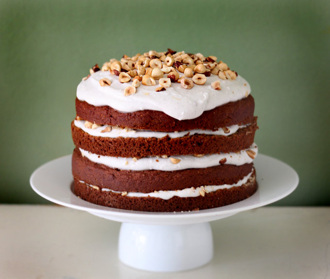 Pumpkin Spice Cake With Coconut Vanilla Icing
