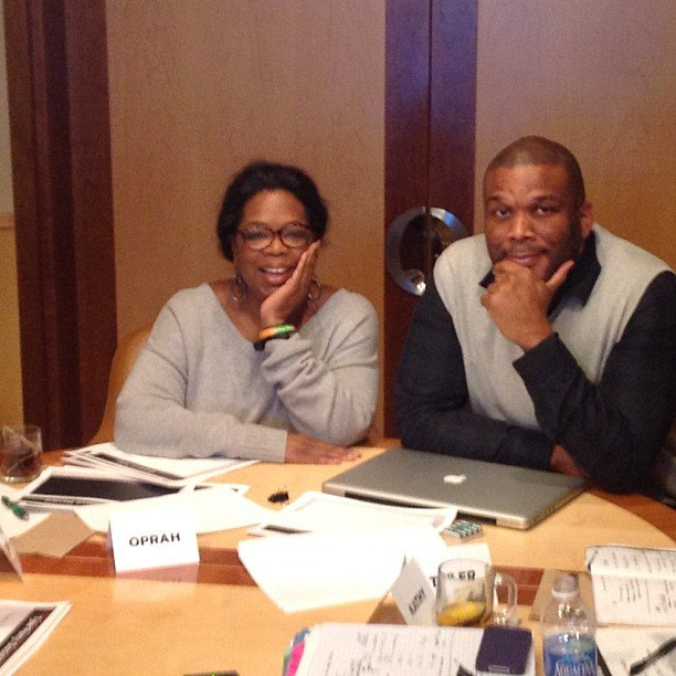 Oprah and Tyler Perry had a brainstorming powwow about new shows for her network. Source: Instagram user oprah