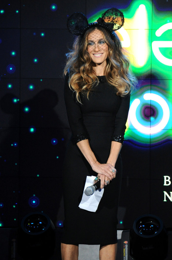 Sarah Jessica Parker hosted Barneys's Electric Holiday celebration.