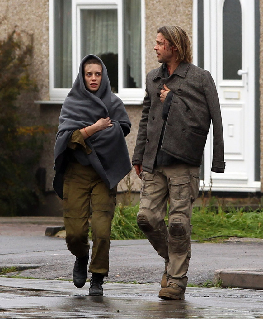 Brad Pitt got back to work on World War Z reshoots.