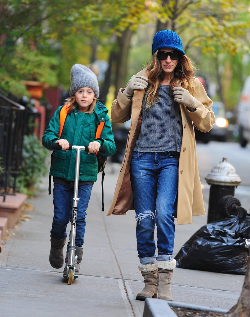 Sarah Jessica Parker walked James Broderick to school.