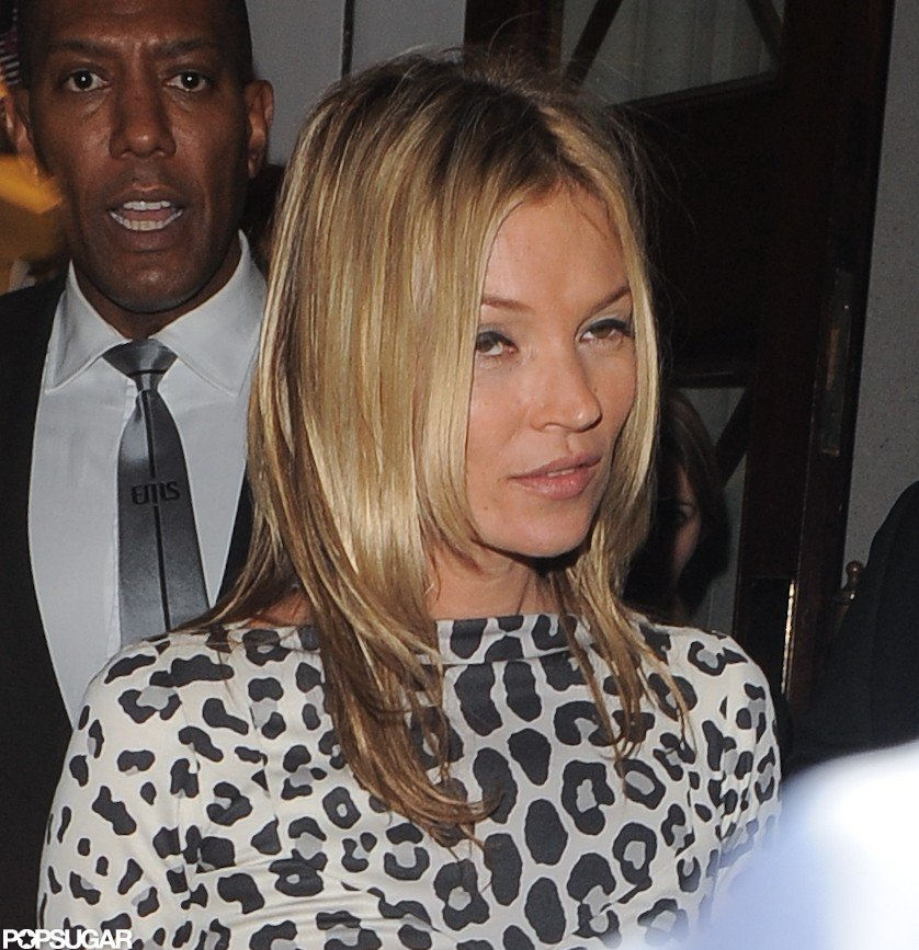 Kate Moss signed copies of her new book in London.