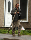 Brad Pitt was in character for World War Z reshoots.