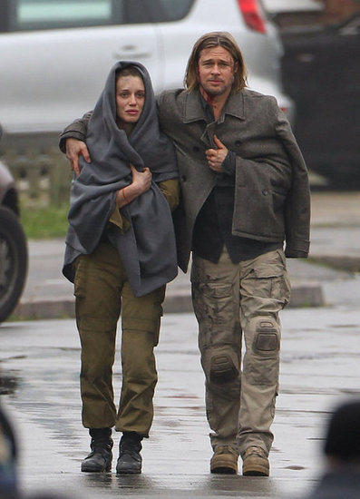 Brad Pitt Gets Bloody For World War Z Reshoots in London