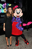 Sarah Jessica Parker posed for a photo with Minnie Mouse.