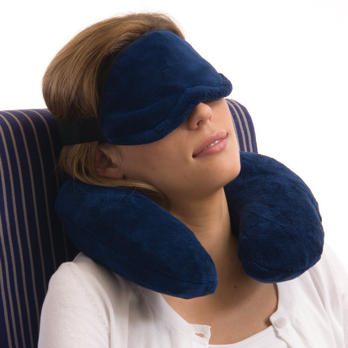 Neck Pillow and Eye Mask Set