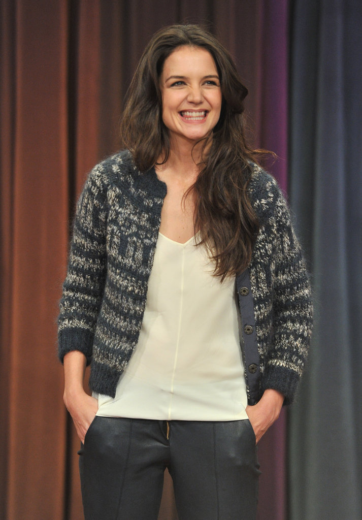 Katie Holmes had a laugh on Late Night With Jimmy Fallon.
